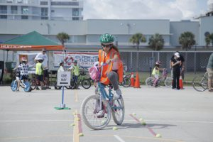 Learning how to avoid obstacles when cycling.