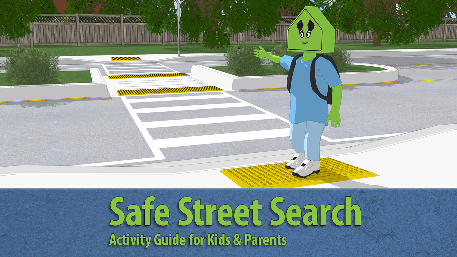 A picture of the cover of the Safe Street Search activity booklet